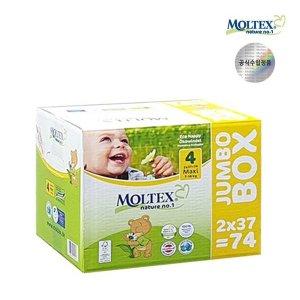 몰텍스 네이처기저귀 맥시 4단계 점보 1BOX(74매)