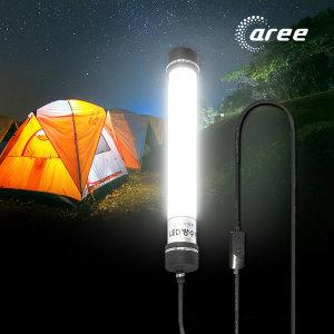 아리글로벌 LED 방수 캠핑등 랜턴 220V_10W 전선스위치