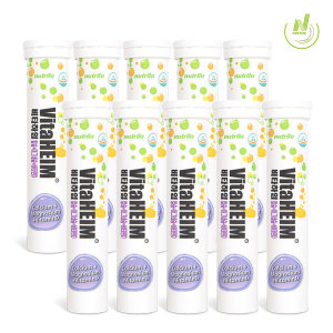 비타하임 발포 칼슘 마그네슘 비타민D 15정 10통