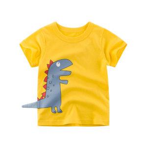 아동 반팔 티 아기 공룡 티셔츠