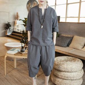 남자개량치파오 중국전통의상 여름옷