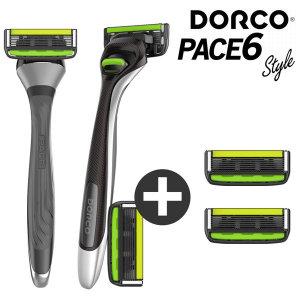 도루코 페이스6 스타일 면도기+면도날 2개 (총 4개)