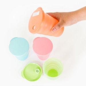타파웨어 빨대컵(4P)330ml-453(DIY스티커 첨부)신상품