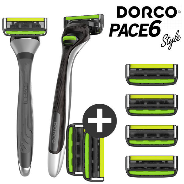 도루코 페이스6 스타일 면도기+면도날 4개 (총 8개)