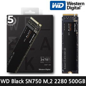 WD Black SN750 M.2 2280 SSD 500GB 정품스티커/AS5년
