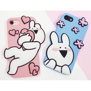 아이폰 8 plus 오버액션 토끼 젤리 케이스 예쁜케이스