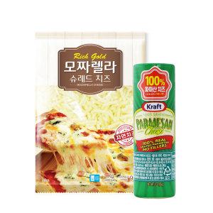 동서 모짜렐라 자연 치즈 1kg + 파마산 치즈 3oz 85g