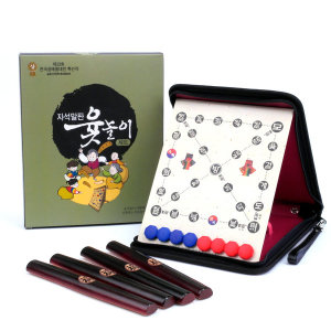 박달나무 원목 자석말판 윷놀이 세트 한국 보드게임