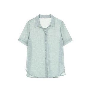 19여름  물방울 도트 오픈넥 셔츠 (SWWSTJ22050)(갤러리아)
