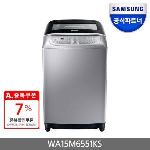 삼성 워블 세탁기 WA15M6551KS 인버터모터