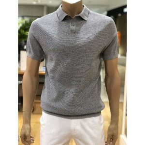 (현대백화점)헤지스남성 HAZZYS (HZSW9B551 G1)남성캐주얼 그레이 단색 니트 반팔 카라 티셔츠 19년S/S신상