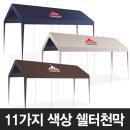 홍캐노피 쉘터천막 3mx6m 기본+바람막이벽면형+모기장