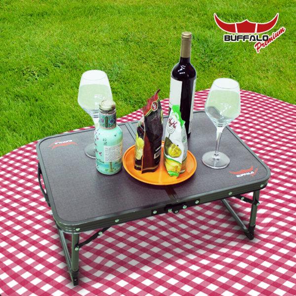 버팔로 프리미엄 2폴딩 미니 티탄 캠핑 테이블