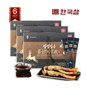 한국삼  정성담은 홍삼녹용진 10g x 30포 x 3박스(갤러리아)