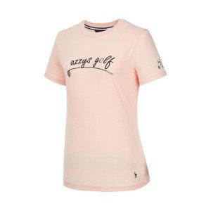 여성 핑크 로고배색 반팔티셔츠 HWTS9B902P1