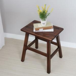 마인 원목 화장대스툴 의자 아카시아나무 보조의자