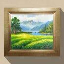 청보리 풍경 보리그림 유화그림 돈들어오는그림 10호