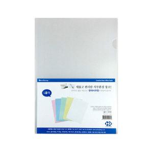 ㄴ자 반투명 홀더 100장 화일 사무 문구용품 서류보관