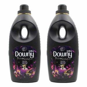 다우니 퍼퓸 섬유유연제 / 미스티크 1L x 2개 블랙