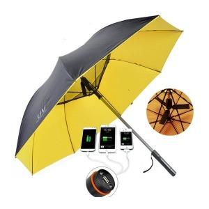 HK02 프리미엄 선풍기 우산 USB충전 양산 골프 낚시