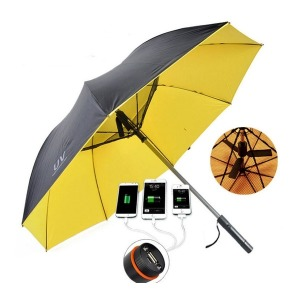 프리미엄 선풍기 우산 USB충전 양산 골프 HK02