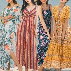 롱원피스 비치원피스 여름 빅사이즈 비치웨어 드레스