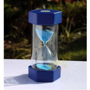 (미니클락)안전한 통아크릴 모래시계(육각형)(블루)-1