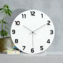 이프 벽시계 화이트 심플디자인 벽걸이시계 (Big Hit)