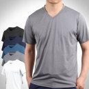 얇고 짱짱한 신축성/ 남성 여름 스판 브이넥 티셔츠