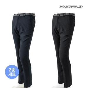 마운틴벨리  2종세트  겨울용 이중주머니 남성 기모본딩바지 일상/작업복/등산복
