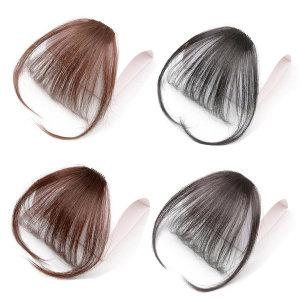 앞머리 가발 인모100% 부분 똑딱이 가발 테일형