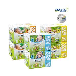 몰텍스 네이처기저귀 점보 2BOX(단계선택)/3-5단계(갤러리아)