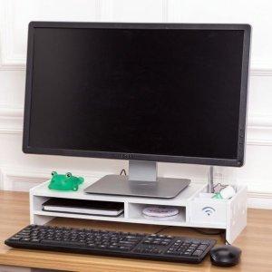 유니컴 모니터 받침대(49x20.4x10cm) 받침 PC받침대