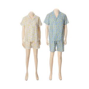 여  커플 레몬프린트 순면잠옷(WP057 MP057)(갤러리아)