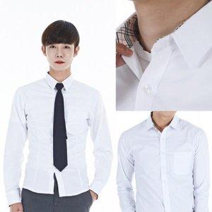 고급스판 교복셔츠 남자 남방 남자셔츠 남성교복셔츠