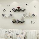 W자 인테리어선반 /인테리어 원목 벽걸이선반 벽선반