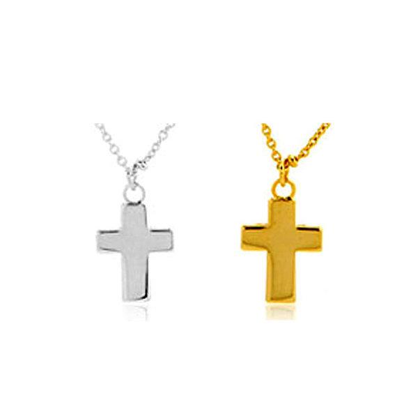 16KGP 큐트 십자가 목걸이  W255797