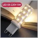 LED G9램프 200V 5W 할로겐 50W 대체용 전구색 핀전구