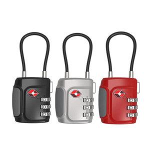 TSA 와이어 캐리어 좌물쇠 여행가방 열쇠 3중번호잠금