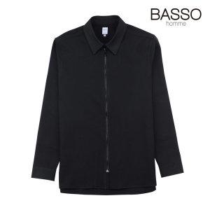 19SS 블랙 세미오버핏 집업 셔츠 (WST1MT11A)