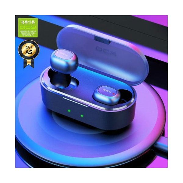 블루투스5.0_QCY 정품 블루투스이어폰 T2S_무상A/S 1년_무선충전(갤러리아)