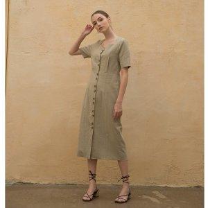 클렛  Linen Heart Neck Dress 2종(19CLETSM31)