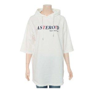 여성용 쿨테리 롱 후드 반팔 티셔츠(PHY2TH2020)
