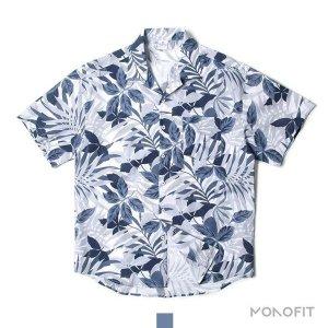 (모노핏옴므)  MONOFIT HOMME  남자셔츠 하와이안 플로라 네이비 반팔셔츠(HST0305118)