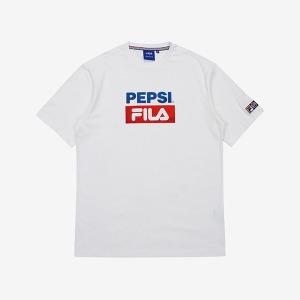 FILA X PEPSI 더블 박스 로고 티셔츠(FS2RSA2P04XOWH)