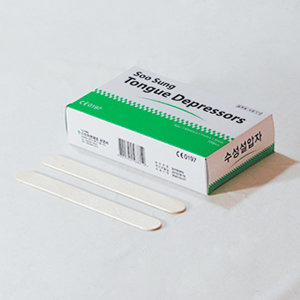 수성 혀누르개 목설압자 6인치 100개 (150x18x1.6mm)