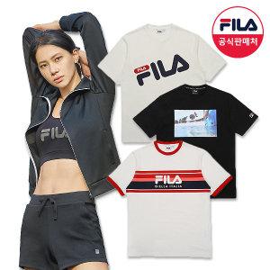 (공용) 사선 로고 반팔 티셔츠 (FS2RSA2004X_INA)