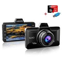 AZDOME 블랙박스 Full HD 3인치 Dash Cam + 32G