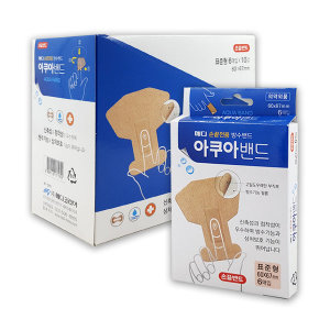 메디 아쿠아밴드 손끝밴드 방수밴드 표준형 6매 1개
