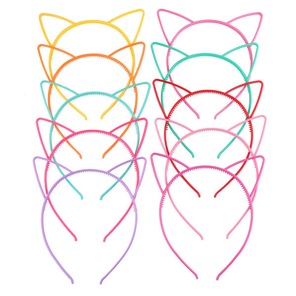 고양이 귀 머리띠 헤어밴드 악세사리 플라스틱 유아